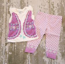 GAP SOUTHWEST Purple Vest Graphic Tank top Shirt Floral Leggings Pants Set 18 24