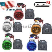AC 50-500V 0-100A 22mm Round LED Digital Voltmeter Ammeter Voltage Current Meter