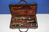 Bb Wood Clarinet marked Lyon Aristocrat
