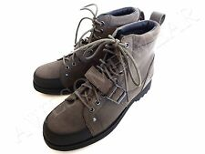 New Ralph Lauren Polo Mcalton Grey Oily Suede Boots Shoes size 10 D