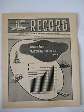 vtg 1952 Defense Record mid century modern design cover Korean War F-86 Fighter