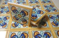 mit abgerundeter Kante  20-4-12 Posten B-Ware Fliesen Mexiko,10x Blumen