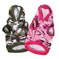 For Small Dogs Hoodies Costume Camo Coats Camouflage Dog Clothes Sweatshirt