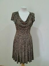 Dorothy Perkins Animal Print Short Sleeve Knee Length Women's Dresses