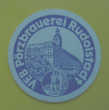 DDR / BIERDECKEL / BIERFILZ / BRAUEREI / VEB PÖRZBRAUEREI RUDOLSTADT / BIER