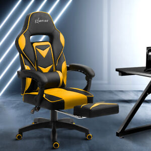 NEW Office Chair Computer Desk Gaming Study Home Work Recliner Black Yellow
