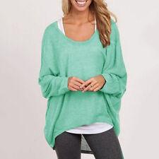Damen Pulli Pullover Sweater Strickjacke Jumper Strickpullover Sweats Bluse Tops
