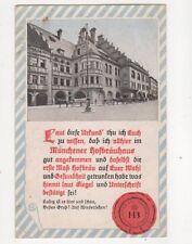 Muenchener Kgl Hofbraeuhaus Vintage Postcard Germany 068b