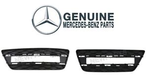 For Mercedes W166 Pair Set of Front Left & Right Bumper Cover Grilles Genuine