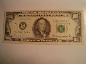 (1)1969 $100.00 FEDERAL RESERVE STAR NOTE wonderful cond.,great addition 4 you