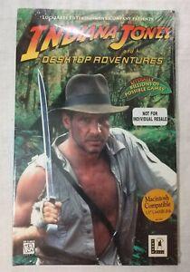 Indiana Jones And His Desktop Adventures LUCAS ARTS **RARE** NEW** MAC **