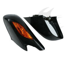 Black Rear View Mirror W/ Orange Turn Signal Fit For Honda ST1300 2002-2011
