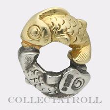 Authentic TrollBeads Silver & 18kt Gold Happy Fish TrollBead  41814