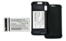 Motorola Atrix 4G/MB860, 2800 Mah Extended Battery with Cover for AT &T