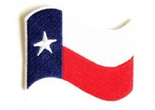 "(B63) 3"" x 2"" WAVING TEXAS FLAG iron on patch (3658) Biker Vest Cap Hat"