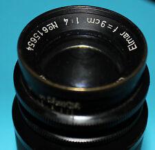 Leica Elmar F = 9cm 1:4 no. 615654 Leitz Wetzlar Germany 1946 OVP obiettivo