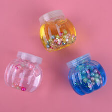Crystal Clear Clay Slime Pearl Jelly Mud Pumpkin Bottle Kids Stress Relief Toy