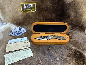2007 Dealer Buck Alpha Dorado Knife Ram's Horn Handles 24K Gold Ram Mint In Box