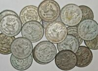 3 LARGE 1958-1967 SILVER MEXICO UN PESO COINS! THREE 1 PESO MEXICAN COINS!
