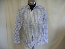 "Mens Shirt Marc O'Polo blue/grey check pure cotton collar 16.5"" length 31"" 0296"