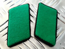 Genuine East German Forces Collar Tabs Green With Black Border DDR NVA  - NEW