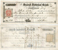 CIVIL WAR 1865 Certificate of Deposit, $5100 2nd National Bank , Freeport, IL
