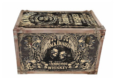 Jack Daniels Whisky Metal Storage Chest Trunk Case Retro Vintage Large Tool Box