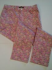 Ralph Lauren Pink Print Ankle Pants Womens 8 Straight leg Stretchy EUC (501