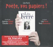 Leo Ferre's Poete, Vos Papiers! by Yves Rousseau Sextet (CD, Le Chant du Monde)