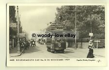 pp1565 - Bournemouth Tramcar No.14 Boscombe c1909 (Lady move!) - Pamlin postcard