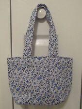 New Handmade Blue Flowers & Butterflies Tote Purse Handbag