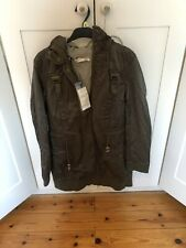 NEW LABEL LAB GREEN HOODED PARKA SIZE 14 RRP: £100