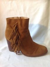 Jones Boot Maker Brown Ankle Suede Boots Size 39