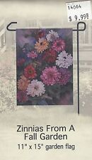 """Zinnias from a garden 11""""x15"""""""