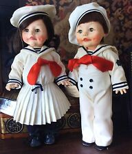 EFFANBEE Faith WIck Sailor Boy & Girl Dolls w/ Original Boxes 15""