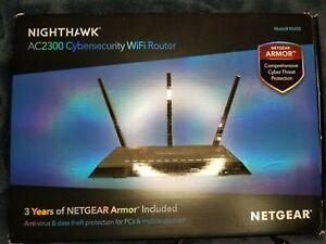 NETGEAR Nighthawk AC2300 Cybersecurity Dual-Band Wi-Fi Router - RS400-100NAS