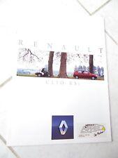 Renault Clio RSi 1993 sales brochure prospekt catalogue commercial sales