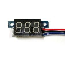 Blue LED Panel Meter Mini Lithium Battery Digital Voltmeter DC 3.3V - 30V