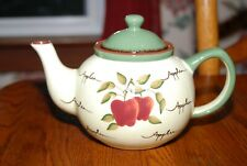 "Home Interiors Apple Orchard Teapot ""Display Only"""