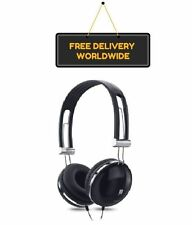 Headphones iBall BLACK Over the Ear 3.5mm Wired for Mobiles Tablets Laptops TV