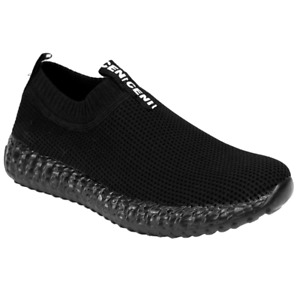 Elasticated Sock Shoes Knit Slip On Sneakers Lightweight Trainers Mens Size