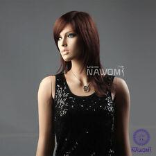Cute Fashion Women Girl Straight Mid-length Reddish Bown Full Hair Wig Kanekalon