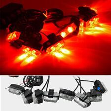 16 LED Strobe Flash Lights Dash Car Truck Emergency Flashing Warning Light Red