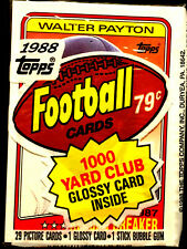 1988 Topps Football Cello Pack w/ WALTER PAYTON ON TOP ~ A HALL OF FAME INDUCTEE