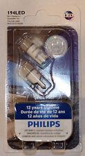 Genuine Philips 6000K T10 W5W LED Bulbs for Parking Lights Xenon White - New Gen
