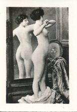 Nr,31827  kleines Akt Foto schöne nackte Frau Busen Erotik 6 x 8,5 cm  um 1945