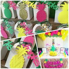 Party Like A Pineapple Tropical Themed Birthday Party Thank You favor boxes