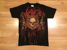SLAYER T SHIRT MENS SMALL BLACK RED SKULL ROCK HEAVY METAL VINTAGE