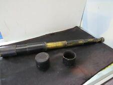 Antique 1900'S Telescope Spyglass Single Draw Brown