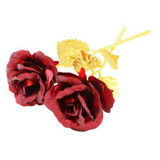 24cm Handcraft Handmade Gold Foil Rose Flower Dipped Long Stem Lovers Gift Red